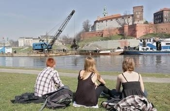 Udrażnianie rzeki Wisły w Krakowie