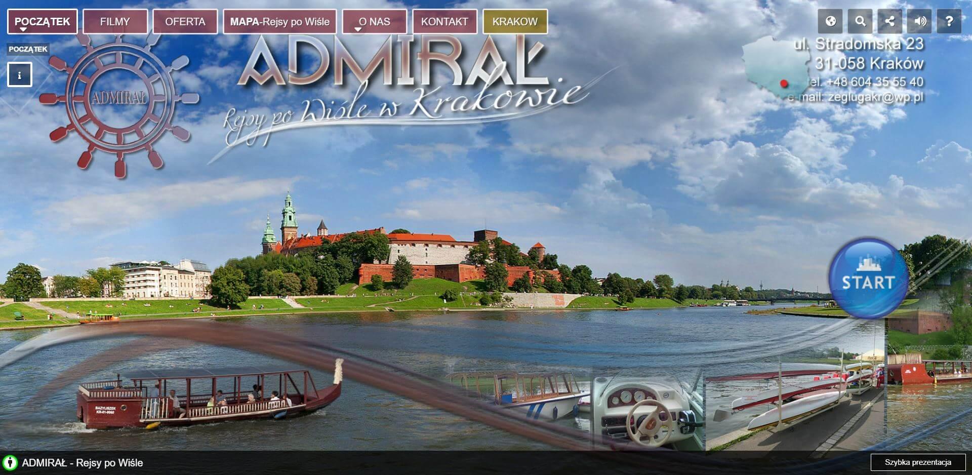 Wirtualny spacer - rejsy po Wiśle w Krakowie